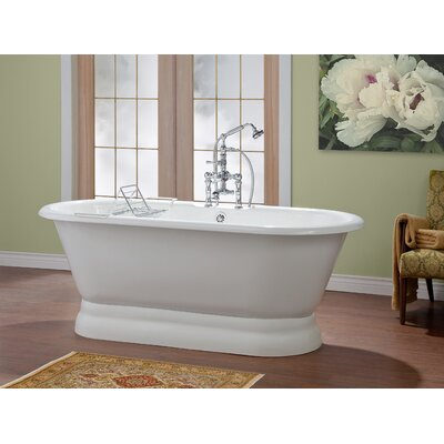 Carlton 70 x 32 Soaking Bathtub with 6 Drilling Color: White Interior with White Exterior