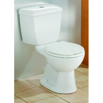 Dual Flush Elongated Two-Piece Toilet Finish: Biscuit