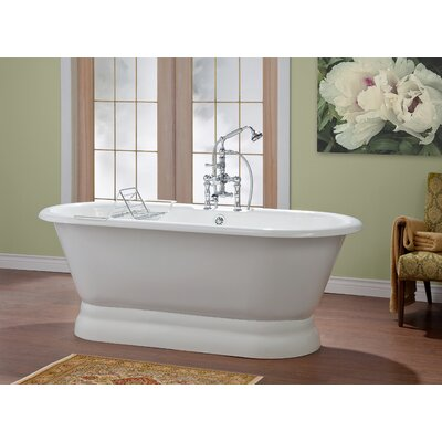 Carlton 70 x 32 Soaking Bathtub with Continuous Rolled Rim Color: White Interior with White Exterior