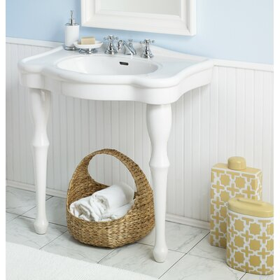 Winsor 32 Console Bathroom Sink with Overflow