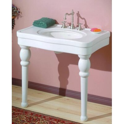 Astoria Ceramic 36 Console Bathroom Sink with Overflow