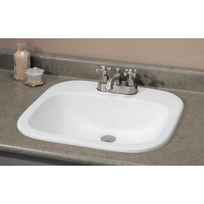 Ibiza Self Rimming Bathroom Sink with Faucet Center 4