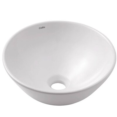 Water Lily Circular Vessel Bathroom Sink