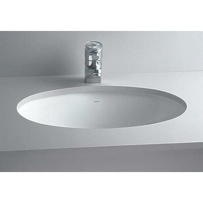 Oval Undermount Bathroom Sink with Overflow