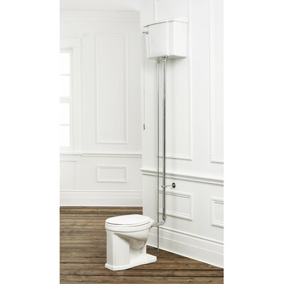 1.6 GPF Elongated Two-Piece Toilet Trim Finish: Chrome