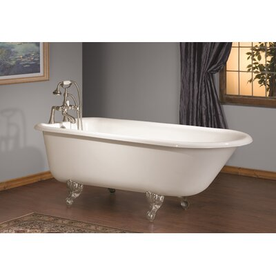 68 x 30 Soaking Bathtub Feet Finish: Brushed Nickel, Color: White Interior with Custom Colour Exterior