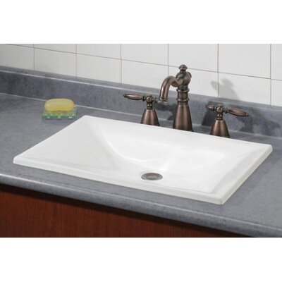 Estoril Self Rimming Bathroom Sink Sink Finish: White