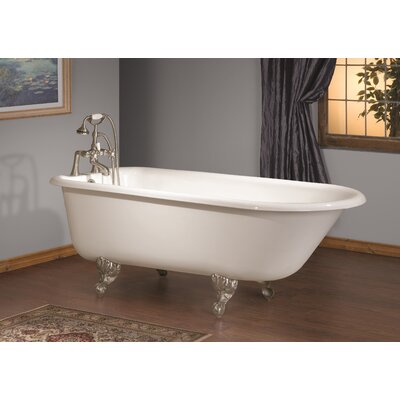 54 x 30 Soaking Bathtub Color: White Interior with White Exterior, Feet Finish: Brushed Nickel