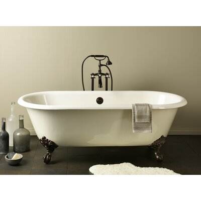 Regal 68 x 31 Soaking Bathtub Feet Finish: Polished Brass, Color: White Interior with Custom Colour Exterior