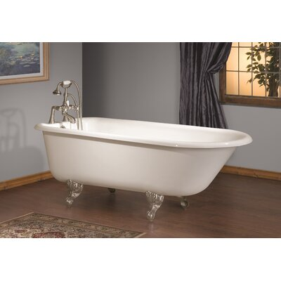 54 x 30 Soaking Bathtub Color: White Interior with Custom Colour Exterior, Feet Finish: Polished Brass