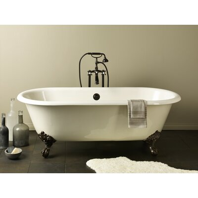 Regal 68 x 31 Soaking Bathtub Feet Finish: Chrome, Color: White Interior with Custom Colour Exterior