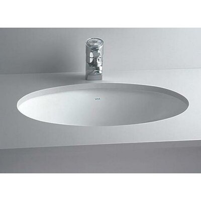 Oval Undermount Bathroom Sink with Overflow Sink Finish: Biscuit