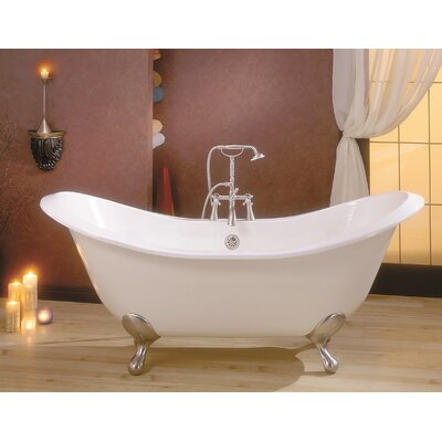 Regency 72 x 31 Soaking Bathtub Feet Finish: Brushed Nickel, Color: White Interior with White Exterior