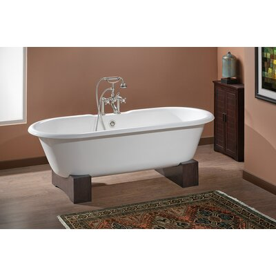 Regal 61 x 31 Soaking Bathtub Feet Finish: Oak, Color: Biscuit Interior with Custom Colour Exterior