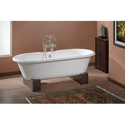 Regal 61 x 31 Soaking Bathtub with 7 Drilling Color: Biscuit Interior with Custom Colour Exterior, Feet Finish: Dark Beech