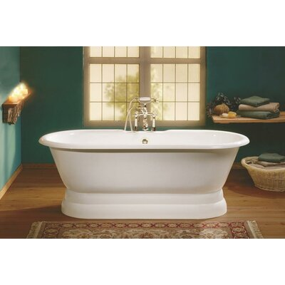 Regal 68 x 31 Soaking Bathtub Feet Finish: Cast Iron Pedestal Base, Color: White Interior with Custom Colour Exterior