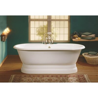 Regal 68 x 31 Soaking Bathtub Feet Finish: Cast Iron Pedestal Base, Color: White Interior with White Exterior