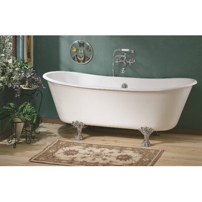 Winchester 68 x 28 Soaking Bathtub Feet Finish: Polished Brass, Color: White Interior with White Exterior