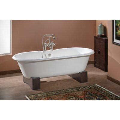 Regal 61 x 31 Soaking Bathtub Color: Biscuit Interior with Custom Colour Exterior, Feet Finish: Natural Beech