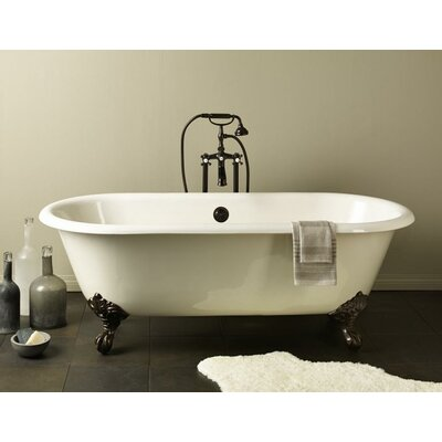 Regal 61 x 31 Soaking Bathtub Feet Finish: Polished Brass, Color: White Interior with Custom Colour Exterior