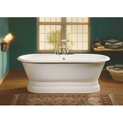 Regal 68 x 31 Soaking Bathtub with Continuous Rolled Rim Color: White Interior with White Exterior