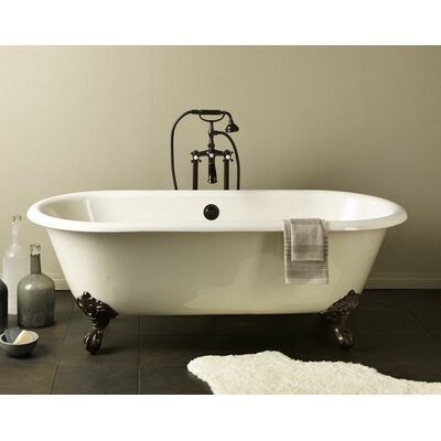 Regal 61 x 31 Soaking Bathtub with Undrilled Color: Biscuit Interior with Custom Colour Exterior, Feet Finish: Polished Brass