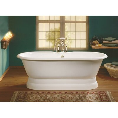 Regal 68 x 31 Soaking Bathtub with Undrilled Feet Finish: Cast Iron Pedestal Base, Color: White Interior with White Exterior