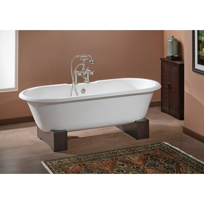 Regal 68 x 31 Soaking Bathtub Feet Finish: Dark Beech, Color: Biscuit Interior with Custom Colour Exterior