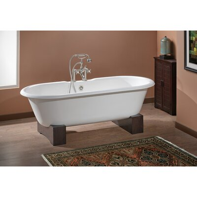 Regal 61 x 31 Soaking Bathtub Feet Finish: Natural Beech, Color: Biscuit Interior with Custom Colour Exterior