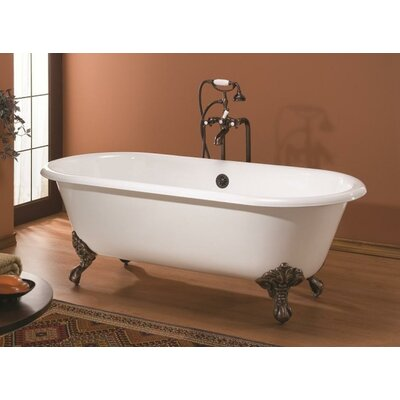 Regal 61 x 31 Soaking Bathtub Feet Finish: Polished Brass, Color: White Interior with White Exterior