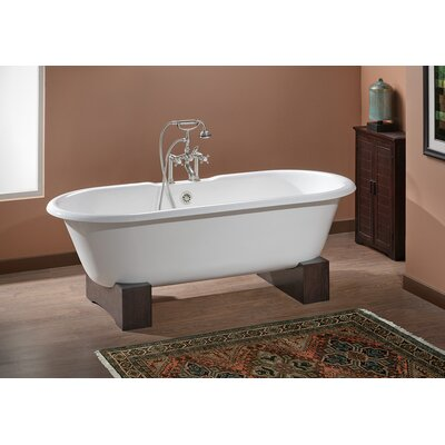 Regal 68 x 31 Soaking Bathtub Color: White Interior with Custom Colour Exterior, Feet Finish: Oak