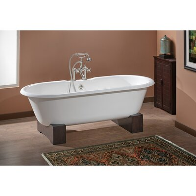 Regal 68 x 31 Soaking Bathtub Feet Finish: Oak, Color: Biscuit Interior with Custom Colour Exterior