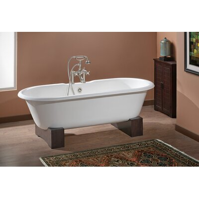 Regal 68 x 31 Soaking Bathtub Color: Biscuit Interior with Biscuit Exterior, Feet Finish: Oak