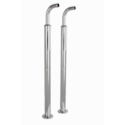 Free Standing Water Supply Line with Concealed Stop Valve Finish: Chrome