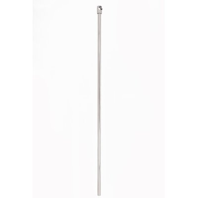 Wall and Ceiling Support Rod for Rectangular Shower Curtain Frame Finish: Brushed Nickel
