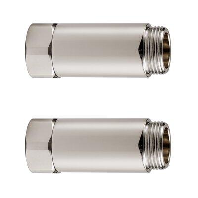 Horizontal Tub Filler Extension Finish: Brushed Nickel