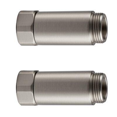 Horizontal Tub Filler Extension Finish: Polished Nickel
