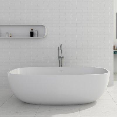 Giorgio Solid Surface 67 x 27.5 Freestanding Soaking Bathtub