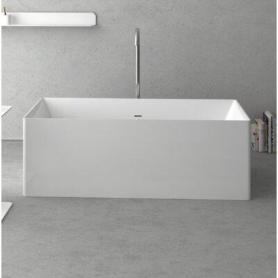 Navona Freestanding Soaking Bathtub Size: 63 L x 27.5 W x 21.625 D