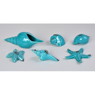 6 Piece Shells Figurine Set