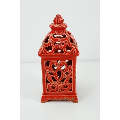 Ceramic Lantern Color: Red