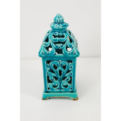 Ceramic Lantern Color: Green