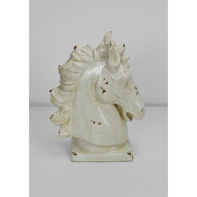 Ceramic Horse Head Figurine