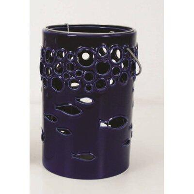 Ceramic Lantern Color: Blue