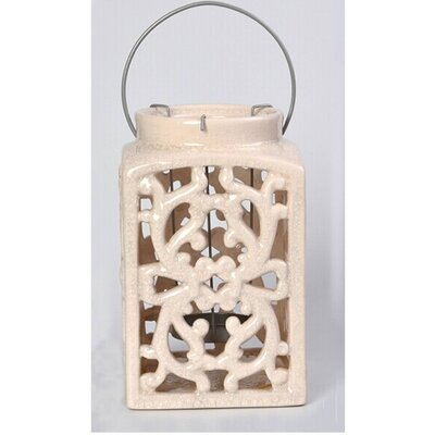 Ceramic Lantern Color: White