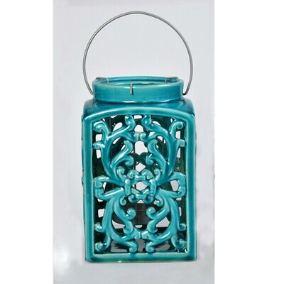 Ceramic Lantern Color: Blue