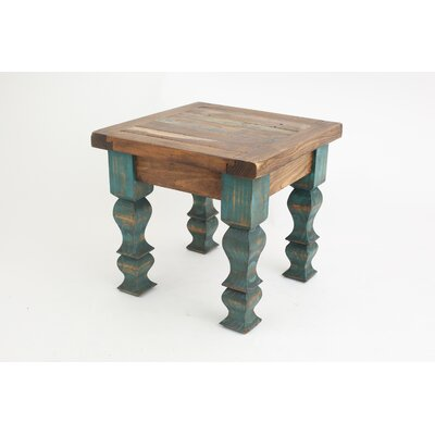 Rustic Old Door End Table Finish: Turquoise