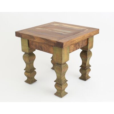 Rustic Old Door End Table Finish: Olive Green