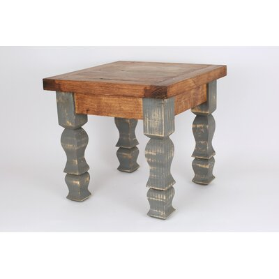 Rustic Old Door End Table Finish: Brown and Gray