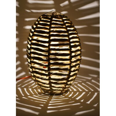 Blaire Beehive 1-Light Globe Pendant Size: 19 H x 12 W x 12 D
